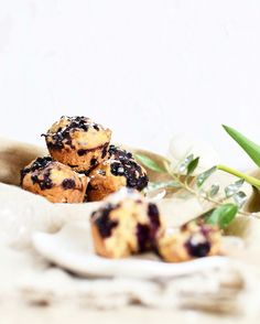Healthy blueberry cupcakes