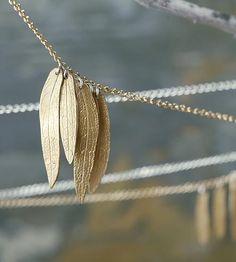 Multiple Leaf Necklace