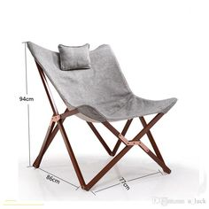 Outdoos y Interior Silla de tijera con reposacabezas Lunchbreak fundas para sillas Butterfly Casual alto grado Soild Silla de madera con cojín Volver
