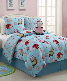 3 Piece Kids/teens Twin Reveresable Comforter Set Pink Blue Lady Bug Design Luxury Bed-in-a-bag-furry Friend Included Twin Comforter Sets, Bedding Sets, Teen Bedding, Girls Bedroom, Bedroom Decor, Bedroom Ideas, Little Girl Rooms, Lol, 3 Piece