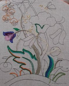 Chain Stitch Embroidery, Free Motion Embroidery, Embroidery Stitches, Hand Embroidery, Brazilian Embroidery, Holy Quran, Cross Stitch Flowers, Punch Needle, Smocking