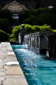 elegant fountain & pool