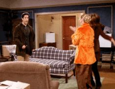 Ross Phoebe Rachel #Friends #TV show #Gif