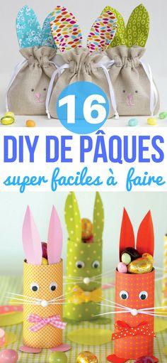 16 DIY de Pâques super faciles à réaliser  #DIY #décoration #bricolage #enfants #paques