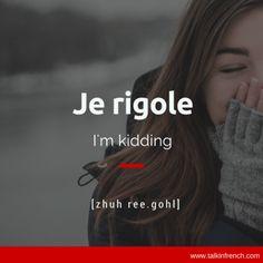 Je rigole French Language #frenchlanguagelearning