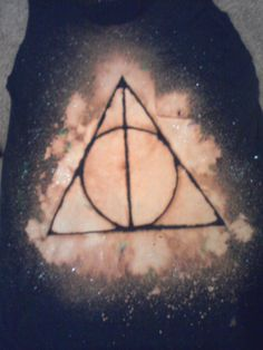 Deathly Hallows spray bleach shirt :)