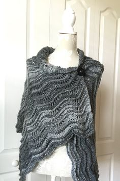 A personal favorite from my Etsy shop https://www.etsy.com/listing/471718519/dressy-black-shawl-handmade-sweater