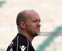 Gregor Townsend Glasgow Warriors's Head Coach looks on during the Rugby Guinness Pro12 match between Benetton Treviso and Glasgow Warriors at Monigo Stadium on April 2, 2016 in Treviso, Italy.