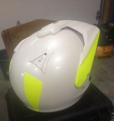 Dipping your helmet is one way to help drivers start seeing motorcycles. Blaze Yellow is the perfect color for getting noticed on the road while looking awesome.