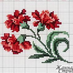 Cross Stitch Charts, Cross Stitch Rose, Cross Stitch Flowers, Cross Stitch Patterns, Cross Stitching, Cross Stitch Embroidery, Embroidery Patterns, Sewing Clothes, Iron Beads