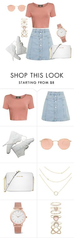 """Untitled #316"" by charlotte-down on Polyvore featuring Pilot, Topshop, Ray-Ban, Michael Kors, Larsson & Jennings and Accessorize"