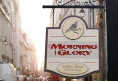 Morning Glory Cafe sign | Danthonia Designs