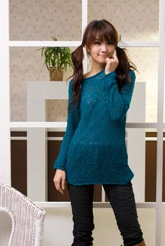latest-jeans-casual-wool-dress-korean-style-2012
