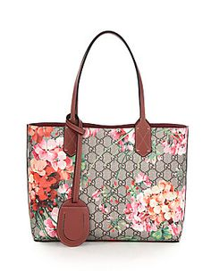 Gucci GG Blooms Small Reversible Tote - Rose-Beige