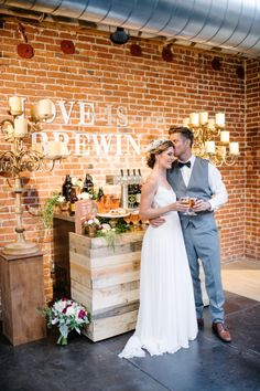 Modern Boho Chic Wedding At The Cellar And Loft Mission Brewery