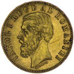 Carol I. 1866 - 1914, 20 Lei 1890 Gold