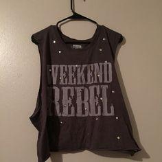 Weekend Rebel tank/crop top Never worn! Fits kind of like a crop top Tops Tank Tops