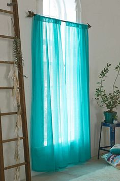 Shop Chloe Turquoise Gauze Curtain at Urban Outfitters today. Peacock Blue Bedroom, Bedroom Colors, Bedroom Decor, Bedroom Ideas, Master Bedroom, Urban Outfitters, My New Room, My Room, Cortina Boho