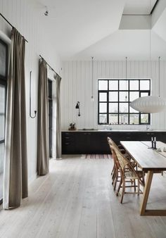 47 inspiring outdoor spaces our favorite sale picks 56 ~ Design And Decoration White Washed Floors, White Paneling, White Walls, Ideas For Small Apartments, Design Scandinavian, Decoration Inspiration, Building A New Home, Floor Decor, Modern Interior Design