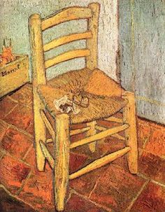 고흐- 의자   진짜 의자 고흐는 현실을 있는 그대로 표현하고자 하였다고 한다. 물론 그의 다른 작품들에서는 그만의 영혼세계가 잘 드러난 작품도 많지만..