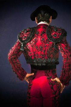 """First look for cover art - """"La Matadora or The Killer"""" Spanish Costume, Mexican Costume, Folk Costume, Matador Costume, Drag King, Theatre Costumes, Traditional Dresses, Spain, Style Inspiration"""