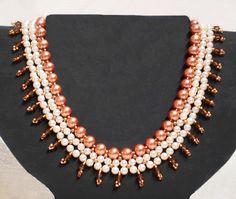 DIY pearls necklace pattern tutorial