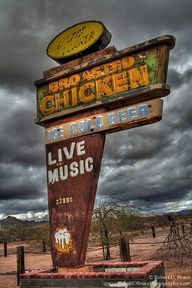 Broasted Chicken and live music. Sometime, at any rate. Maybe thirty or forty years ago.