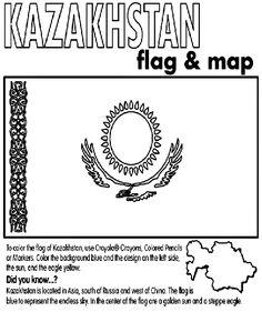 kazakhstan coloring page