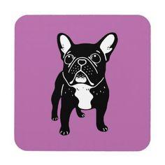 #Super cute brindle French Bulldog Puppy Drink Coaster - #bulldog #puppy #bulldogs #dog #dogs #pet #pets