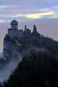 Sky high castle.  [San Marino Castle by Stefano Pedroni ]