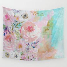 Acrylic rose garden  Wall Tapestry