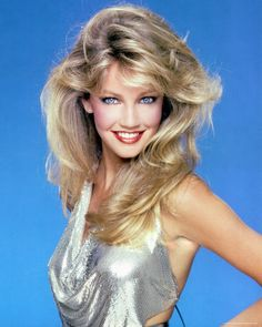 heather locklear, 80's goddess divine, sequins, big hair, sparkling makeup...she was the whole package!