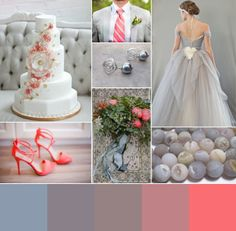 Coral and Dove Gray Wedding Inspiration