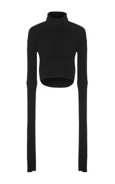 Mission Cropped Skivvy Sweater by MATICEVSKI Now Available on Moda Operandi