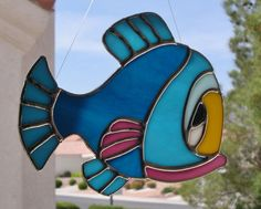 Stained Glass Colorful Fish