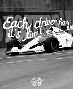 """""""Each driver has it's limit. My limit is a little bit further than other's."""" Ayrton Senna  #PETROLIFIED - automotive bits and tees"""