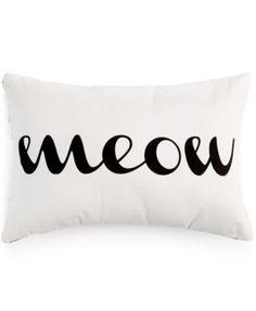 Dormify® Reversible Meow/Roar Decorative Pillow