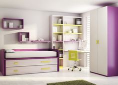 desk area. cameretta per bambini (bimba) KIDS UP: 19 ROS 1 S.A.