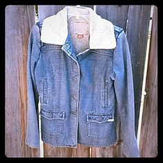 Guess Jean Jacket Button up Guess Jean Jacket. Fully lined, front button pockets and upper pockets. This jacket will keep you warm. Guess Jackets & Coats Jean Jackets