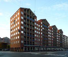 Dronningegarden, Kay Fisker, C. Kay Fisker, Residential Complex, Copenhagen, Denmark, Townhouse, Multi Story Building, Urban, Modern, Image