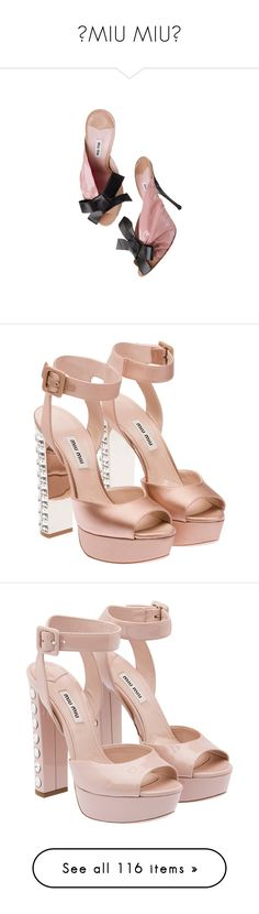 """""""✧MIU MIU✧"""" by marcellamic ❤ liked on Polyvore featuring shoes, sandals, heels, miu miu, pink, pink heeled shoes, pink heeled sandals, pink shoes, pink sandals and heeled sandals"""