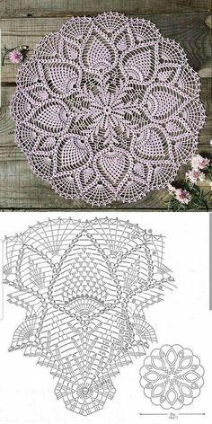 Filet Crochet, Crochet Stitches, Crochet Tablecloth, Crochet Doilies, Rugs, Knitting, Home Decor, Crochet Dreamcatcher, Chevron Crochet