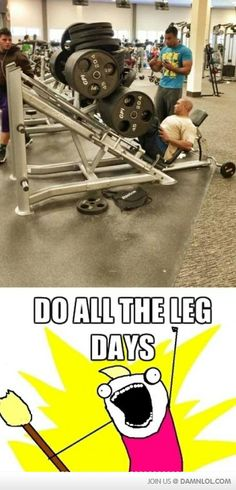 All The Leg Days In One - Damn! LOL