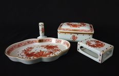 Catawiki online auction house: Herend - Smoking Set (4) - .916 (22 kt) gold, Porcelain Hungary, Smoking, Bubbles, Auction, Porcelain, Gold, House, Porcelain Ceramics, Home