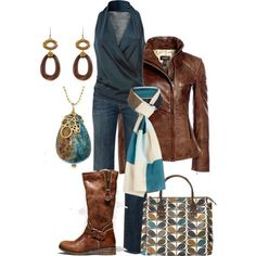 A fashion look from October 2012 featuring Donna Karan tops, 7 For All Mankind jeans and American Eagle Outfitters boots. Browse and shop related looks.