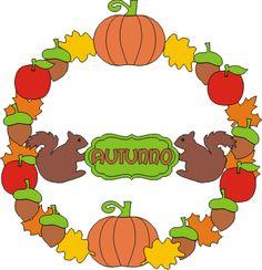 ghirlanda autunno da ritagliare, incollare e assemblare