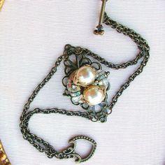 Repurposed vintage jewelry bracelet