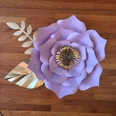 Paper Flower Template Digital PDF 12