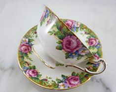 Paragon Tea Cup and Saucer - Pink Roses AS IS