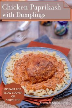 Delectable Hungarian Chicken Paprikash is rustic comfort food at its best. Chicken is stewed until fork-tender in a richly colored, ambrosial sauce of onion, tomatoes, spicy peppers, paprika and sour cream. Directions for cooking in an Instant Pot, Slow Cooker or on your stovetop included. Plus, I've also shared tips and tricks I learned at a cooking class in Budapest, Hungary! #chickenpaprikash #hungarianchickenpaprikash #chickenpaprikashwithdumplings #instantpotchickenrecipes… Chicken Paprikash With Dumplings, Hungarian Chicken Paprikash, Hungarian Recipes, Hungarian Food, Searing Meat, Budapest Hungary, Turkey Recipes, Recipe Using, Sour Cream